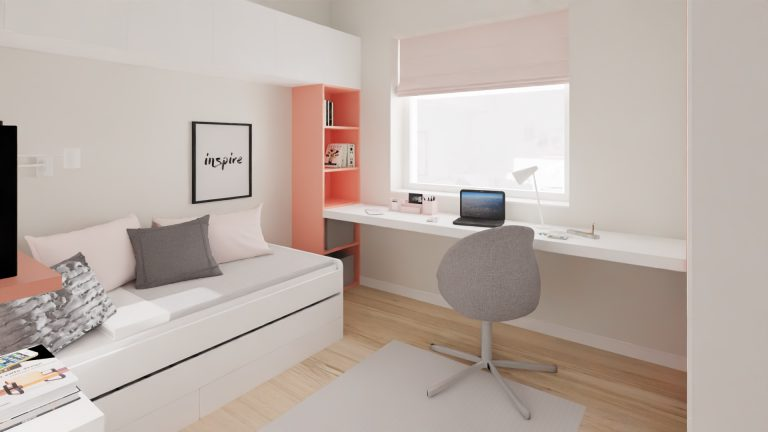 pokój dziecka biały różowy